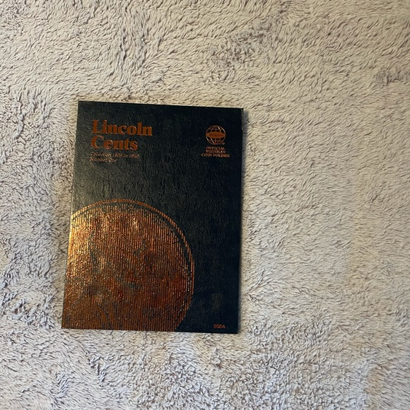 Empty Lincoln cents collectors folder